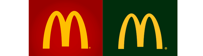 Logotipos Antes-Después Mc Donalds